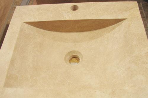 vasque travertin pierre et travertin distribution pierre. Black Bedroom Furniture Sets. Home Design Ideas