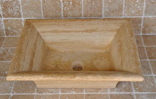 robinet vasque salle de bain castorama salle de bain marbre travertin p produits - Meuble Salle De Bain Robinet Mural